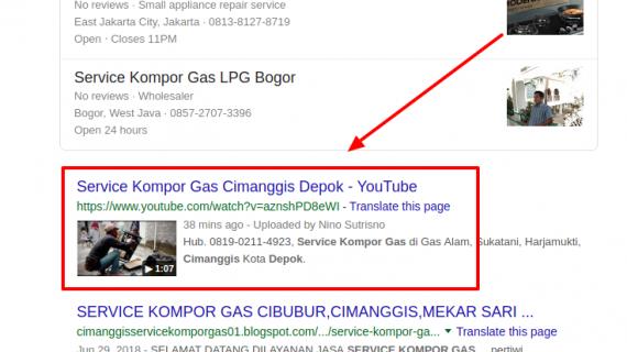 Service Kompor Gas Cimanggis Depok