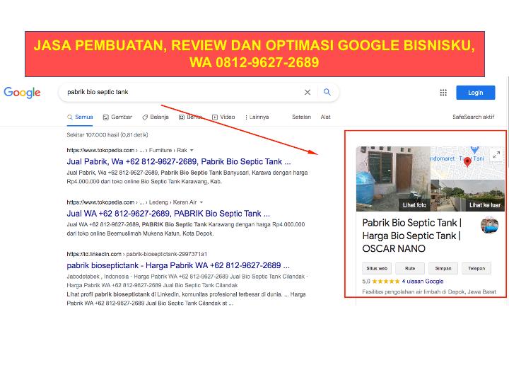 Jasa Google My Business, Jasa Ulasan Google Bisnis, Jasa Bikin Google Bisnisku, Jasa Perbaikan Google Bisnisku, Jasa Buat Akun Google Bisnisku, Agen Google Bisnisku, Jasa Buat Google Bisnisku